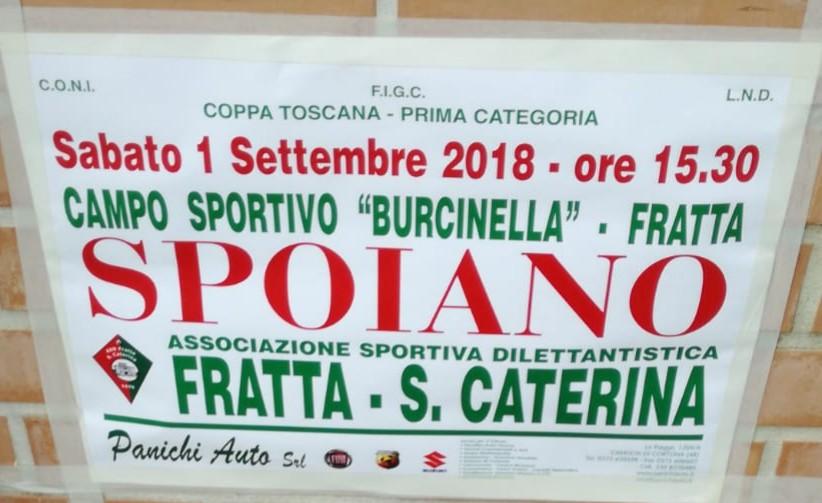 Coppa Toscana 1 Categoria: vittoria contro lo Spoiano