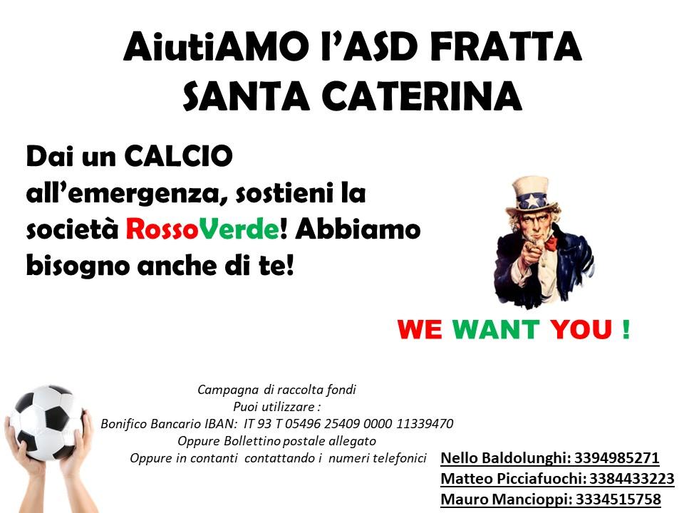 AiutiAMO l'ASD Fratta Santa Caterina: l'iniziaitiva
